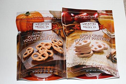 UPC 816512015162, Apple Cider and Pumpkin Spice Yogurt Covered Pretzels 9 OZ (2 Pack)