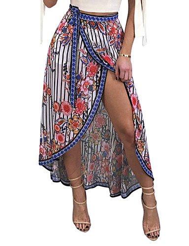Mayihang Vestido Falda de la Mujer Club Boho una línea Falda ...