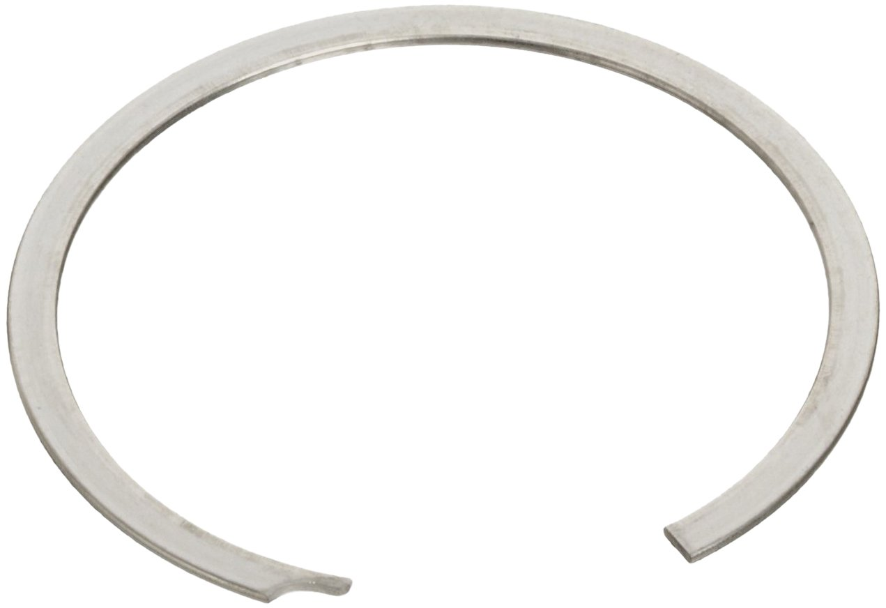 Standard External Retaining Ring, Spiral, Axial Assembly, 1070-1090 Carbon Steel, Plain Finish, 1-7/8'' Shaft Diameter, 0.062'' Thick, Made in US (Pack of 5)