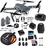 DJI Mavic Pro Fly More Combo Collapsible Quadcopter Drone Bundle with 2 Extra Batteries, Additional Memory Card, Landing Kit and More Accessories