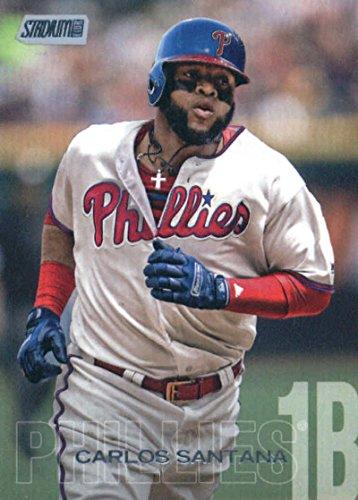 2018 Topps Stadium Club #24 Carlos Santana Philadelphia Phillies MLB Trading Card