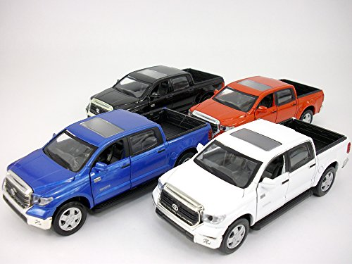 (Toyota Tundra 1/36 Scale Diecast Metal Model by Kingstoy - SET OF 4)