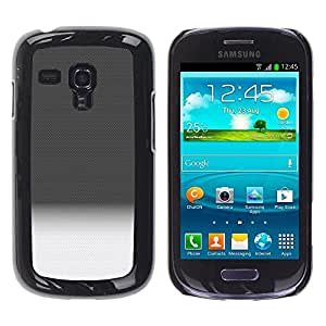 Be Good Phone Accessory // Dura Cáscara cubierta Protectora Caso Carcasa Funda de Protección para Samsung Galaxy S3 MINI NOT REGULAR! I8190 I8190N // Gradient Black White Horizon Cle