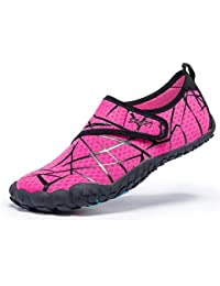 Women Men Unisex Lightweight Water Shoes Quick-Dry Barefoot Flexible Beach  Swim Shoes 715a6e9362