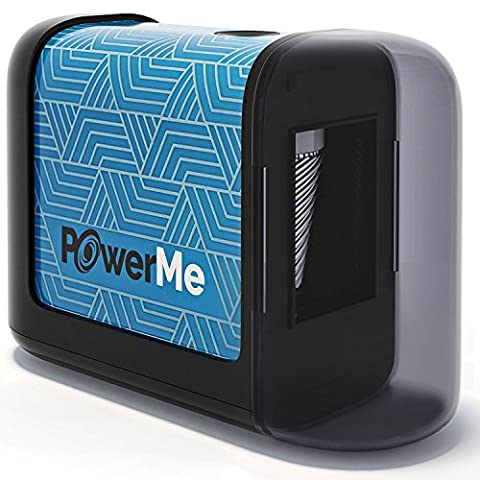 PowerMe Electric Pencil Sharpener - Battery Operated (No Cord) - for Home, Office, School, Artist, Students, High Volume Use - Ultra-Portable, Best for No. 2 And Colored Pencils (Drawing, - Volume Commercial Electric Pencil Sharpener
