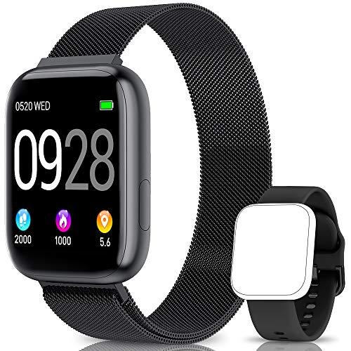 🥇 BANLVS Smartwatch Reloj Inteligente IP67 con Correa Reemplazable Pulsómetro