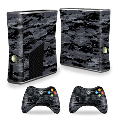 Skin Xbox 360 - MightySkins Skin for X-Box 360 Xbox 360 S Console - Digital Camo | Protective, Durable, and Unique Vinyl Decal wrap Cover | Easy to Apply, Remove, and Change Styles | Made in The USA