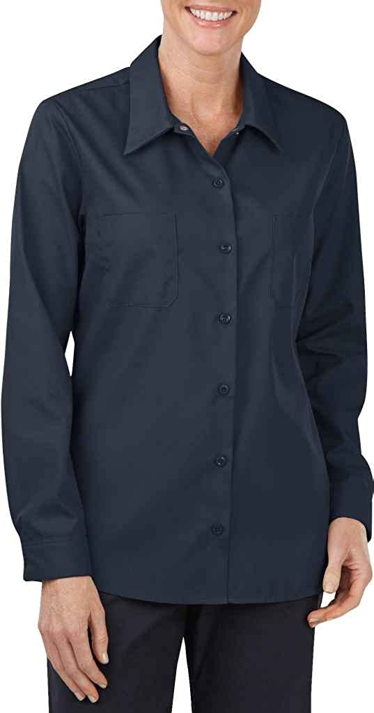 Dickies Women's Industrial Long Sleeve Wrinkle Resistant Work Shirt
