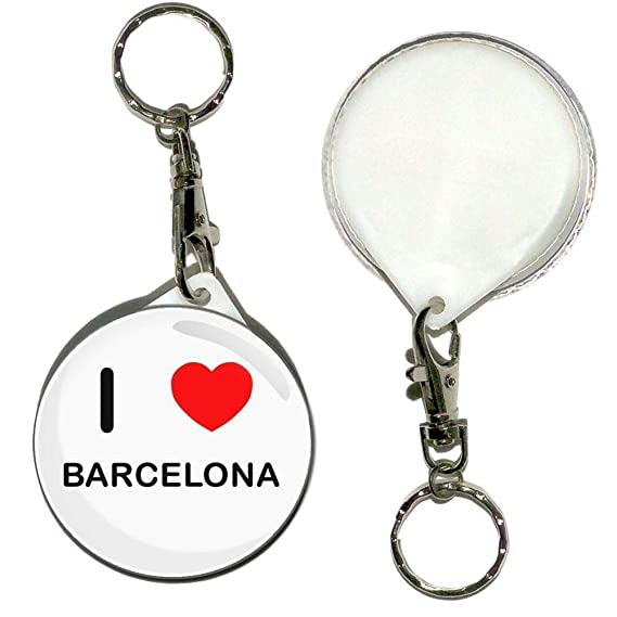 I Love Barcelona - Llavero con botón de 55 mm: Amazon.es ...