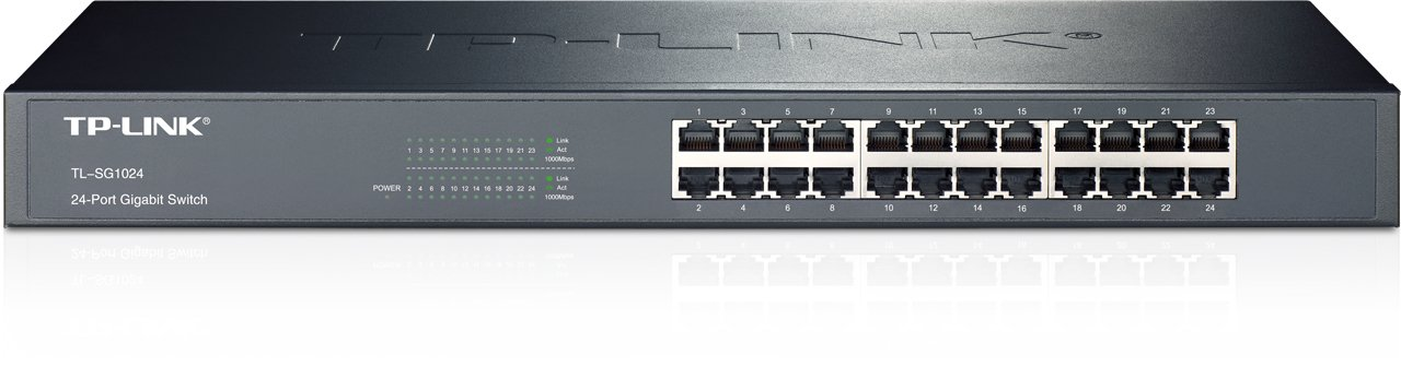 TP-Link 24-Port Gigabit Ethernet Unmanaged Switch | Plug and Play | Metal | Rackmount | Fanless | Limited Lifetime (TL-SG1024)