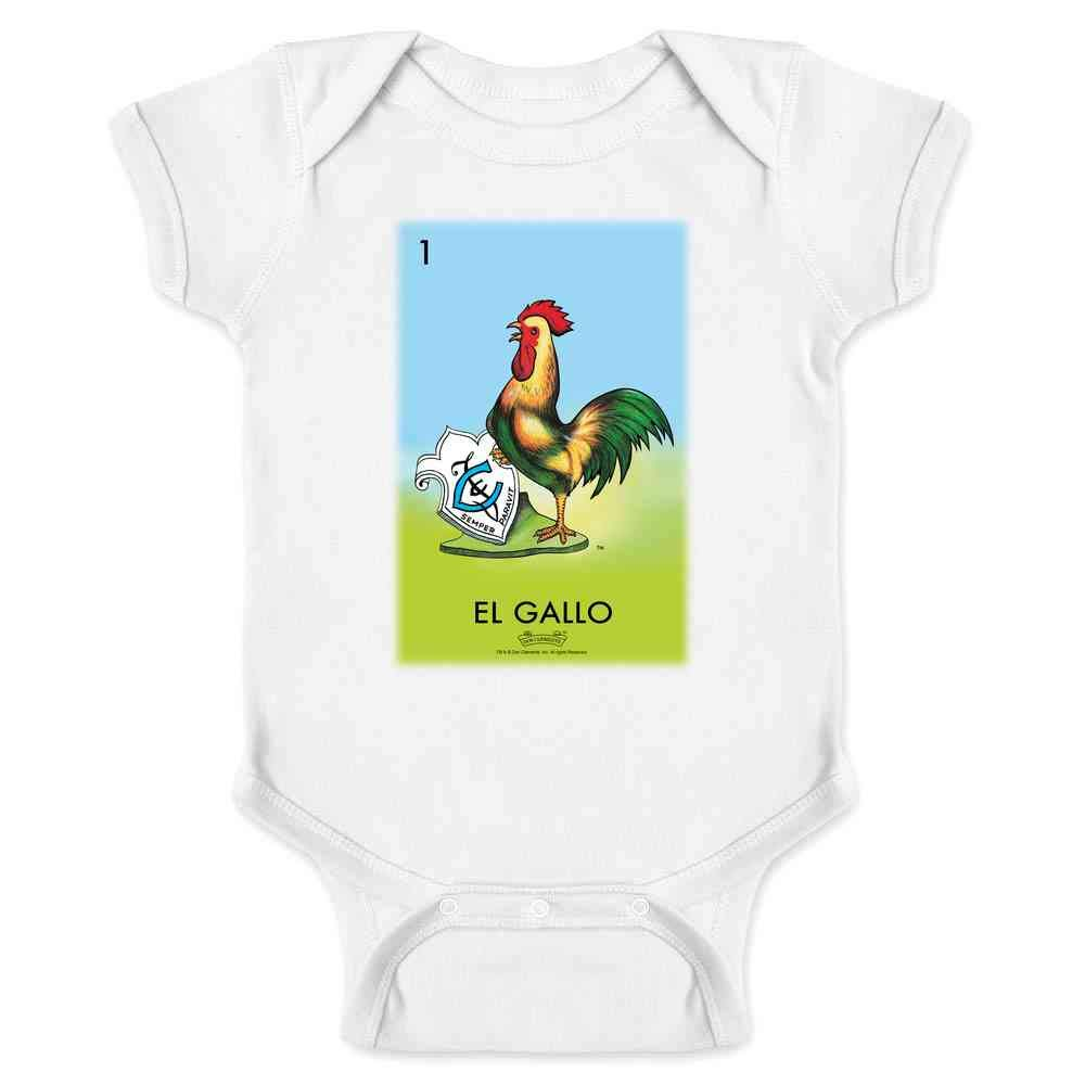 Pop Threads El Gallo Rooster Loteria Card Mexican Bingo Infant Bodysuit