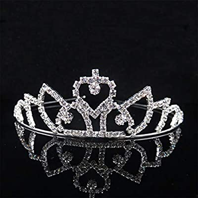 Princess Crystal Tiaras And Crowns Headband Kid Girls Love Bridal Prom Crown Wedding Party Accessories