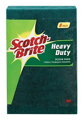 Scotch-Brite Heavy Duty Scour Pads, 8 Total Scour