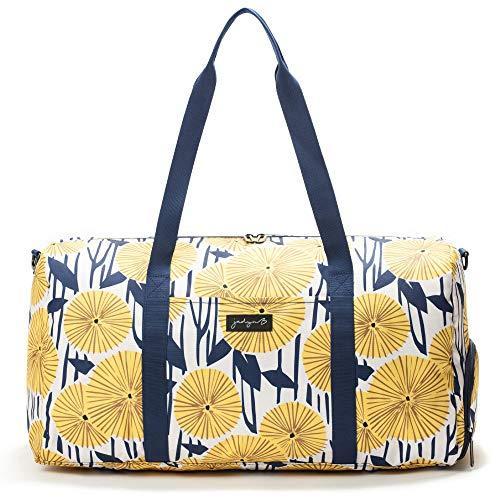 "Jadyn B 22"" Women's Weekender Duffel Bag with Shoe Pocket (Yellow Flowers)"