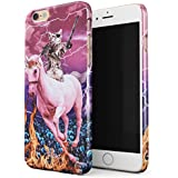 Glitbit iPhone 6 / 6s Case Unicorn Cat Warrior Kitten Trippy Galaxy Space Kitty Caticorn Funny Cats Thin Design Durable Hard Shell Plastic Protective Case For Apple iPhone 6 / 6s