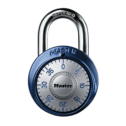 Master Lock 1561DAST Dial Combination Padlock, 1 Pack, Assorted Colors ()