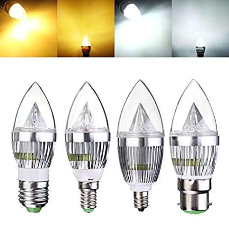 Dimmable Led Bulbs - E12 E14 E27 B22 Dimmable 3w Led Chandelier ...