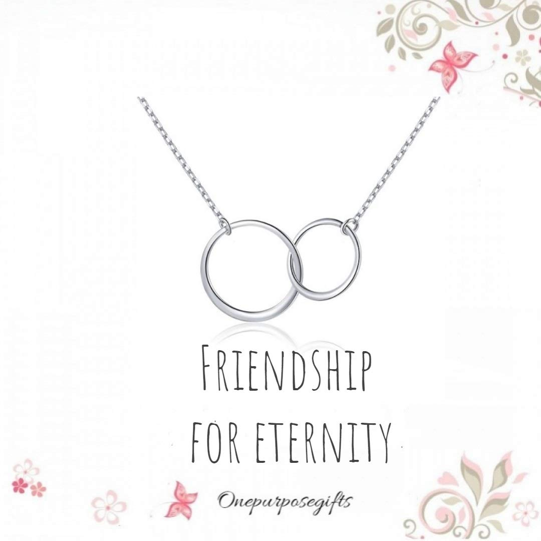 Onepurposegifts Friendship For Eternity Best Friend Necklace Bff
