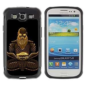 Hybrid Anti-Shock Defend Case for Samsung Galaxy S3 / Cool Fantasy Buddha Warrior