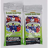 $39 » 2020/21 Panini Prizm EPL Soccer Cello Packs - 2 Pack Bundle - 30 Cards Each - 6 Red, White, and Blue Prizms
