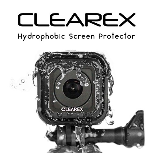 CLEAREX Hydrophobic Screen Protector for GoPro Session | Water Repellent, Tempered Glass, Ultra-Clear, Anti-Scratch | Capture Clearly