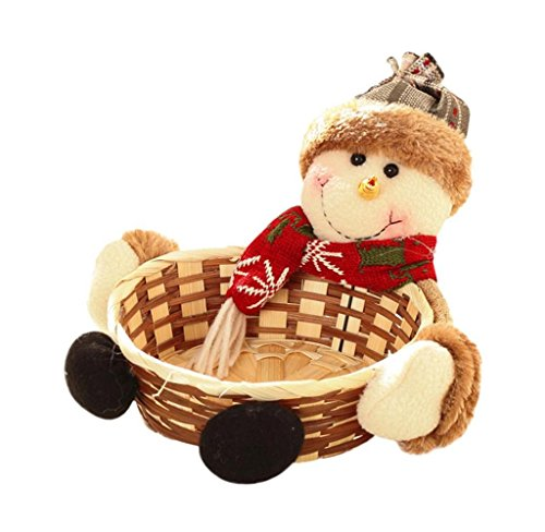 Singleluci Christmas Snowman Candy Storage Basket