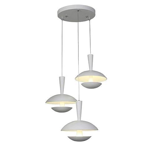 30 W LED Modern Loft Lámpara Colgante Redondo Hierro Blanco ...