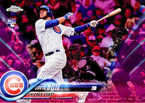 2018 Topps CHROME Update Series - David Bote - PINK REFRACTOR Parallel - Chicago Cubs Baseball Rookie Card RC #HMT15