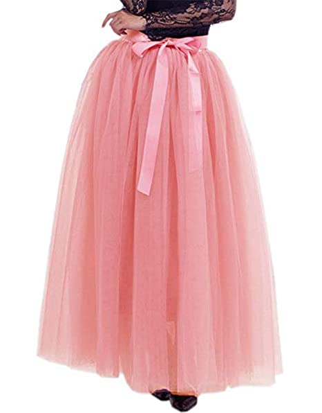 52f5b4f05 Red Dot Boutique 928 - Plus Size Long Maxi A-Line Tutu Tulle Skirt ...