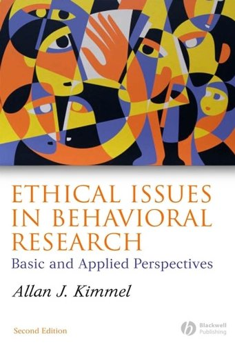Ethical Issues in Behavioral Research: Basic and Applied Perspectives (History Of Animal Testing For Medical Research)