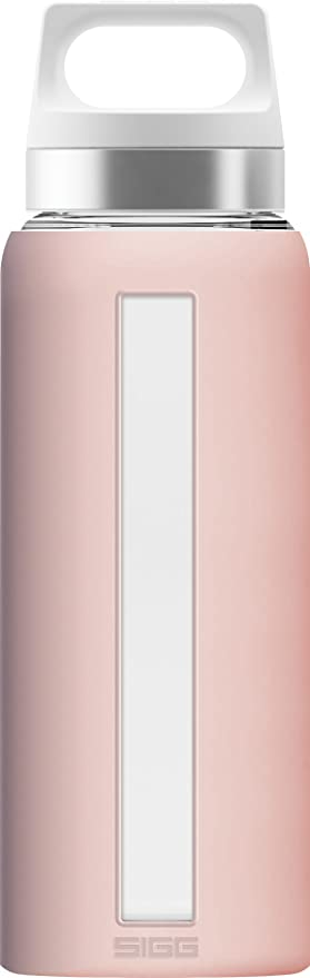 Sigg sueño de Cristal Botella de Agua con empuñadura de Silicona, Resistente al Calor.