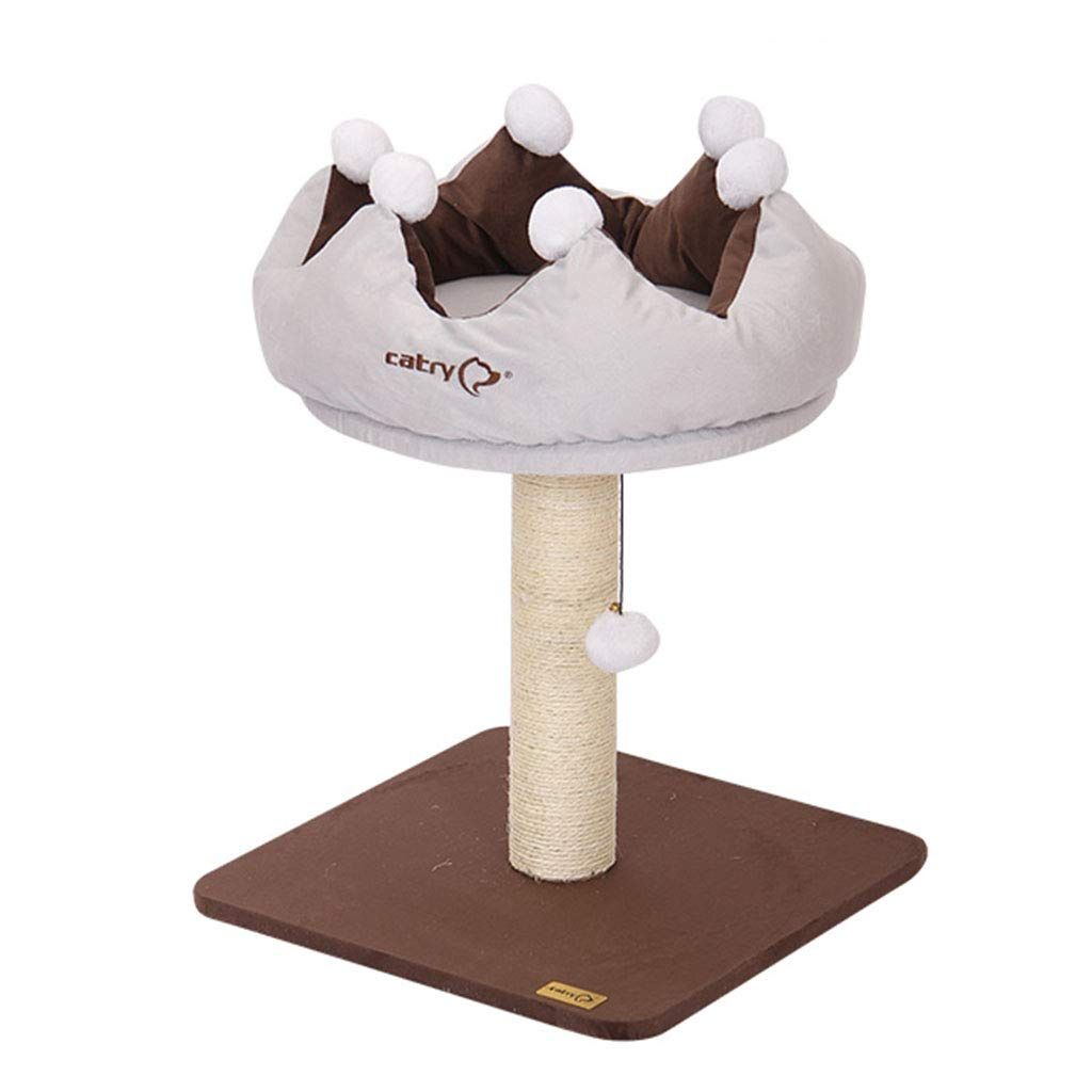 Brown 454559cm Brown 454559cm Cat trees Cat climbing frame cat toy cat frame cat litter four seasons universal cat house cat house crown