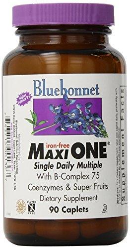 Bluebonnet Maxi One Iron Free Caplets, 90 Count by Blue Bonnet