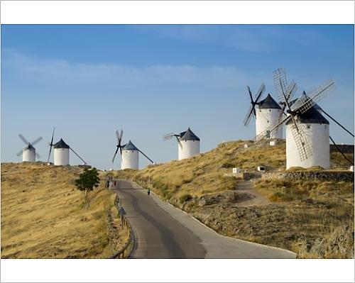 10x8 Print of Don Quixote windmills, Consuegra, Castile-La Mancha, Spain, Europe (12397952)