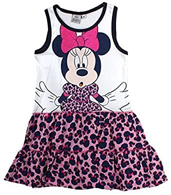 f04f71f38efe Get Wivvit Girls Dress Official Disney Minnie Mouse Summer Sleeveless  Cotton Sizes from 3 to 8 Years: Amazon.co.uk: Clothing