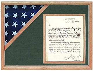 product image for Shadow Box for 3' x 5' Flag with 8.5 x 11 Document Holder, Oak Finish