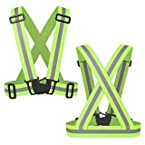 MUMUTIPS 2-Pack Reflective Safety Vest - Stay Safe Jogging, Cycling, Working, Motorcycle Riding, or Running