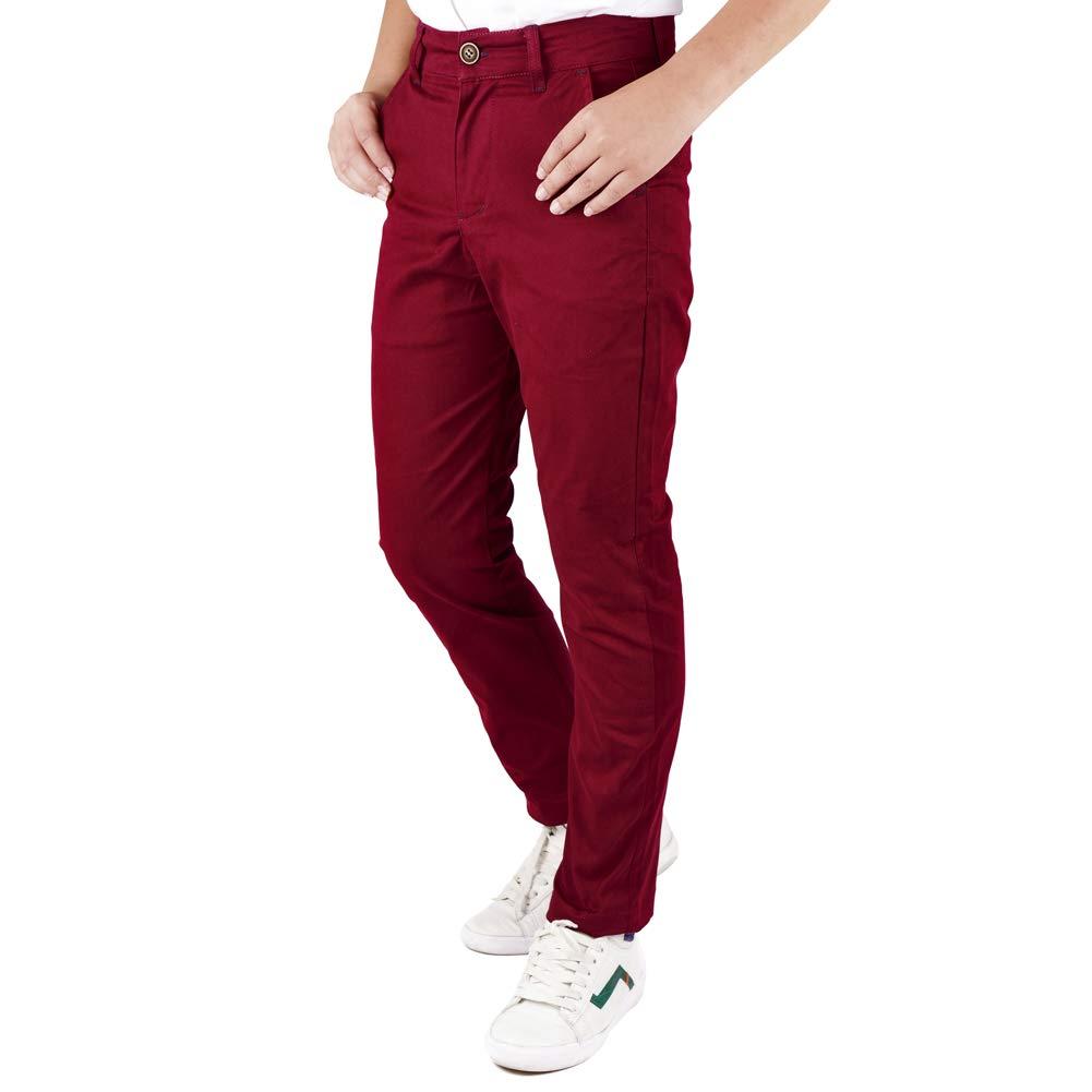 DOCOO Pantaloni Bambino Bambini Elastico in Vita Cotone Caldo Pantaloni Pants per Bambini Bottoms Vari Colori 7-14 Anni