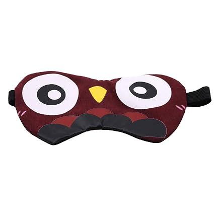 Sevenfly - Máscara para dormir con diseño de búho, diseño de animales, transpirable,