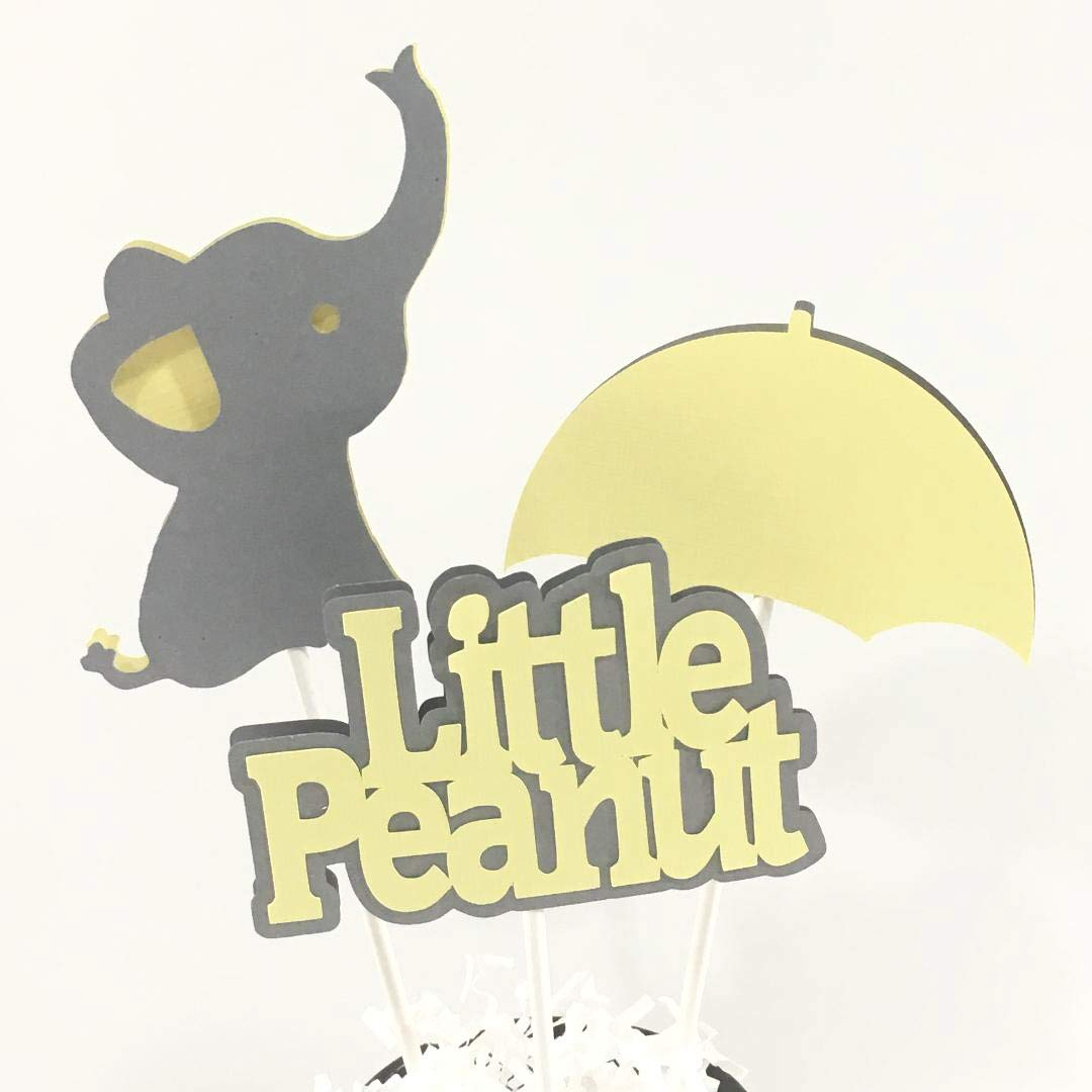 Little Peanut Centerpiecesticks, Cake Toppers, Yellow and Gray
