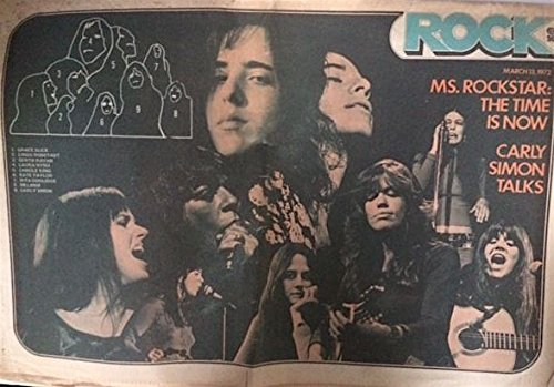 Rock Magazine (March 13, 1972) FEMALE SINGERS cover [MELANIE, CARLY SIMON, LAURA NYRO, RITA COOLIDGE)
