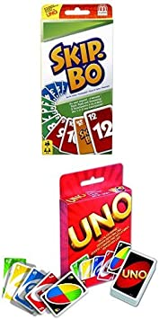 Mattel 52370 SKIP-BO Spiel Mattel Phase 10 Kartenspiel Gesellschaftsspiel