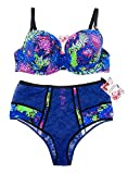 Victoria's Secret Mary Katrantzou 36D Medium Bra Set Bundle of 2: 1 36D Lined Demi Bra and Medium Panties