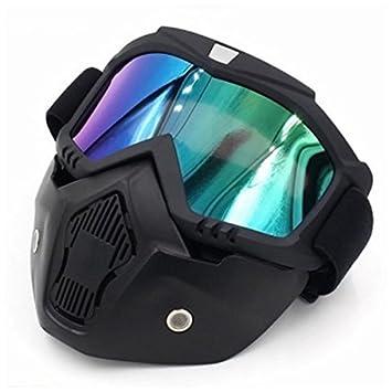 TOOGOO Racing Desmontable Modular Motocicleta Casco Mascara protectora Escudo Color lente