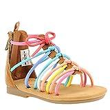 Carter's Girls' Heidi Gladiator Sandal, Multi, 9 M US Toddler