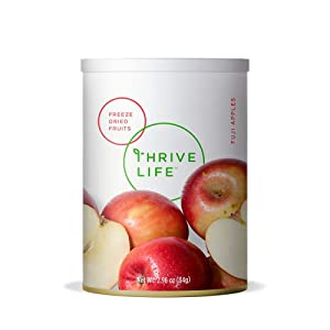 Thrive Life: Freeze-Dried Fuji Apple Slices - Pantry Can Size