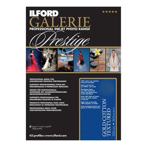 Ilford Galerie Fine Art - ILFORD 2002396 GALERIE Prestige Gold Cotton Textured - 13 x 19 Inches, 25 Sheets