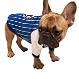 Scheppend Pet Clothes Bulldog Shirt Puppy sweatshirt for Dogs and Cats (Blue, L)