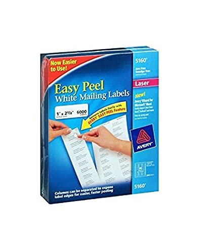 amazon com avery easy peel address labels laser 1 x 2 5 8 8 1