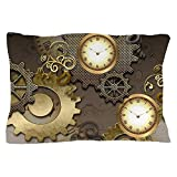 CafePress - Steampunk, Clocks And Gears - Standard Size Pillow Case, 20''x30'' Pillow Cover, Unique Pillow Slip
